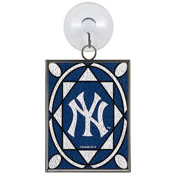 NEW YORK YANKEES STAINED GLASS SUN CATCHER/ORNAMENT NEW & OFFICIALLY LICENSED