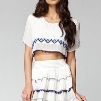 Raga Lucy Cropped Top - Womens Shirts - Egg Shell