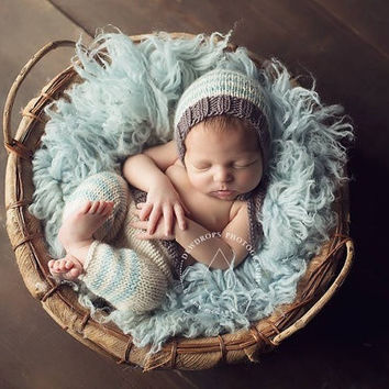 baby Infant Newborn Handmade  Crochet Knit  Costume Photograph Prop outfits Baby  stripe Caps Hats and pants sets 0-12months = 1958464324