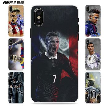 BiNFUL football player messi cr7 neymar style hard White phone Case Cover for Apple iPhone 6 7 7Plus SE 6sPlus 5 5s X 8 8Plus