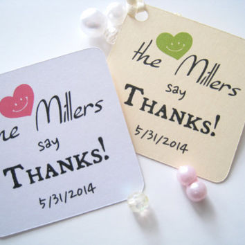 Personalized wedding favor tags, gift tags, party favor tags, thank you tags - 30 count