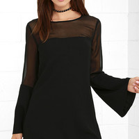 Equinox Black Long Sleeve Dress