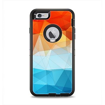 The Vector Abstract Shaped Blue-Orange Overlay Apple iPhone 6 Plus Otterbox Defender Case Skin Set