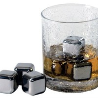 Franmara Stainless Steel Ice Cubes Deluxe - Set of 4