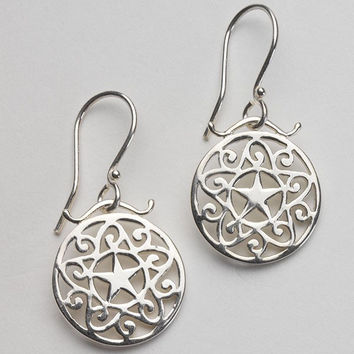 Southern Gates 5 Point Star Scroll Earrings
