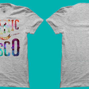 Panic at the Disco T-Shirt Galaxy Design Logo High Quality Graphic band - tour 2015 - pop - music - one republic - the fray - fob - gift