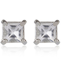 River Island MensGrey gemstone stud earrings