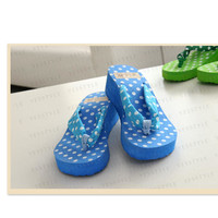 YESSTYLE: 59 Seconds- Dotted Platform Flip-Flops (Green - One Size) - Free International Shipping on orders over $150
