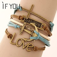 Jewelry Bracelets Women Vintage Leather Bracelet Cheap Price Lady Gift