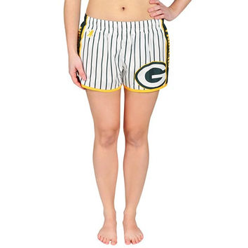 Green Bay Packers Official NFL Womens Pinstripe Shorts