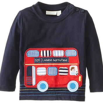 JoJo Maman Bebe Baby Boys' Bus Top, Navy