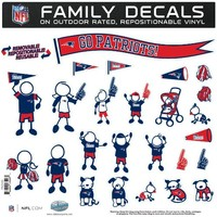 NFL New England Patriots Large Family Decal Set