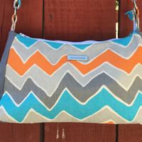 Small Shoulder Bag Purse-Zigzag pattern