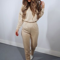 On The Low Jumper: Beige