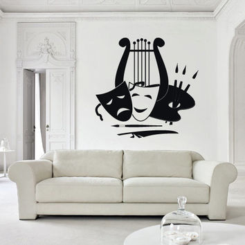 Wall Decals Decor Art Mural Sticker Mask Face Theatre Bedroom Design (z2680)
