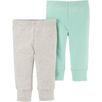 Newborn Baby Neutral 2 Pack Pant - Walmart.com