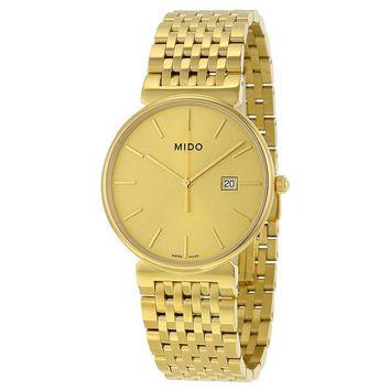 Mido Dorada Gold Dial Gold-plated Mens Watch M0096103302100
