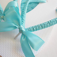 Flip Flops, Wedding Shoes, Tiffany Blue Flip Flops, Bridal Flip Flops, embellished flip flops, beach wedding flip flops, ADRIANA'S WRAPPING