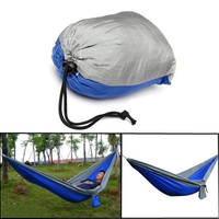 Nylon Parachute Hammock Sleeping Bed Swing Outdoor Camping Travel 2 Persons With Carry Bag