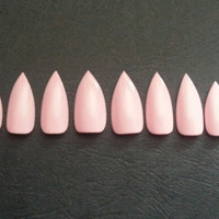 One set of Baby Pink Press on Stiletto Nails