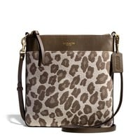MADISON NORTH/SOUTH SWINGPACK IN OCELOT JACQUARD
