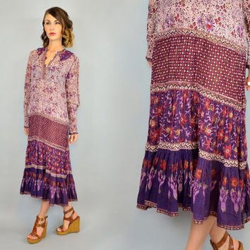 f9cff768ab vintage 1970's INDIAN GAUZE sheer bohemian hippie gypsy festival. Clothes  ...