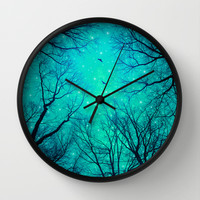A Certain Darkness Is Needed II (Night Trees Silhouette) Wall Clock by soaring anchor designs ⚓ | Society6
