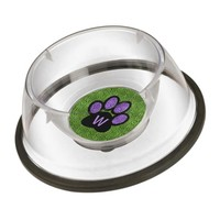 Cat Paw with Monogram Green and Purple Cheetah Bowl