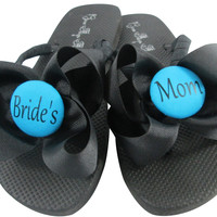 Turquoise Wedding Flip Flops for the Bride's Mom
