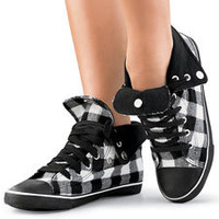 Buffalo Plaid High Top Sneakers; Urban Groove