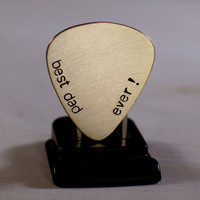 Best dad ever bronze guitar pick for a rocking dad or fathers day