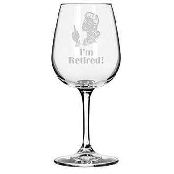 Im Retired Wine Glass  Unique Gift for Retiring Coworker Boss Colleague Partner Woman
