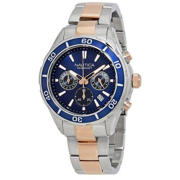Nautica Chronograph Navy Dial Mens Watch NAD21508G