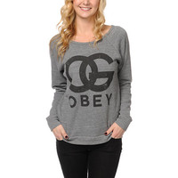 Obey Girls OG Forever Heather Grey Crew Neck Sweatshirt  at Zumiez : PDP