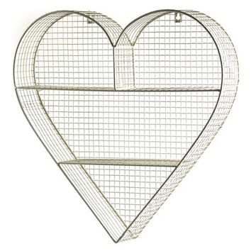 Heart Shelving Unit - Gold