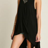 Hi-Lo Sleevless Tunic Top (Ladies)