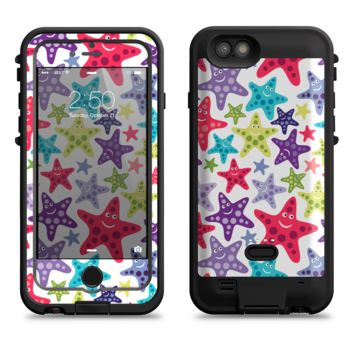 The Smiley Faced Vector Colored Starfish Pattern  iPhone 6/6s Plus LifeProof Fre POWER Case Skin Kit