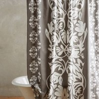 Nobleford Shower Curtain by Anthropologie in Grey Size: One Size Shower Curtains