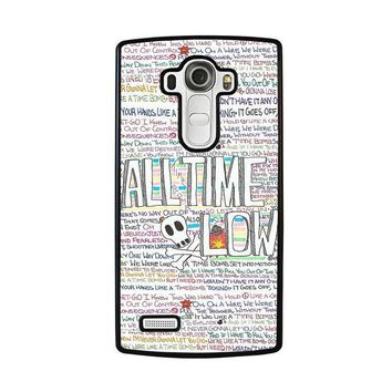 all time low writting lg g4 case cover  number 1