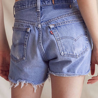 Urban Renewal Recycled Levi's Destroyed Denim Short | Urban Outfitters