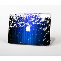 "The Blue & White Rain Shimmer Strips Skin Set for the Apple MacBook Pro 15"" with Retina Display"