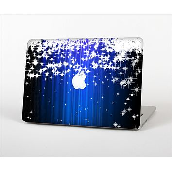 """The Blue & White Rain Shimmer Strips Skin Set for the Apple MacBook Pro 15"""" with Retina Display"""