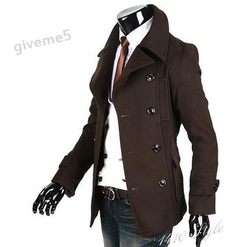 Men's Coats Winter Wool jacket brown