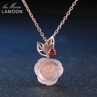 Sterling Silver Rose Gold Plated Necklace