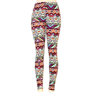 *Tribal Print Multicolor Leggings