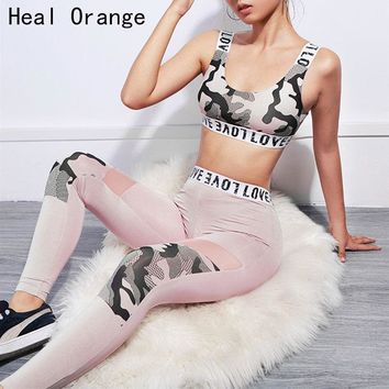 2018 Gym Clothes Set Women Yoga Set Gym Fitness Clothes Sports Bra +Pants Running Tight Jogging Workout Yoga Leggings Sport Suit