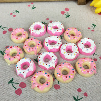 10 Pieces Flat Back Resin Cabochon Kawaii Artificial Sweet Circle Food DIY Decorative Craft Scrapbooking Embellishment:20mm