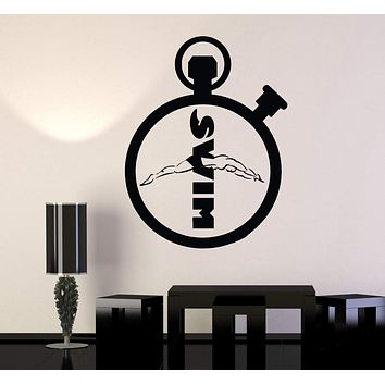 Vinyl Wall Decal Swim Sports Swimming Pool Stickers Mural Unique Gift (ig4154)