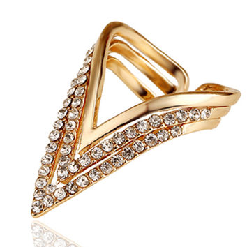 Trendy Zinc Alloy Party Cocktail Ring For Women Hj10387