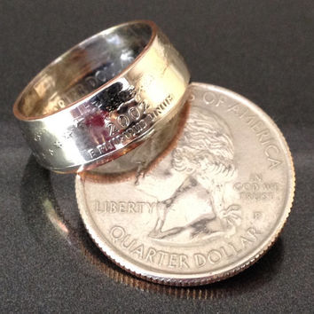Indiana, State Quarter Coin Rings